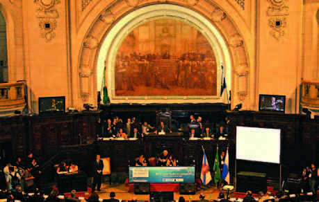 GLOBE opening plenary session at the Tiradentes Palace, Rio de Janeiro. Credit: Julio Godoy/IPS