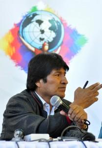 Evo Morales, CMPCC. Crédito: Agencia Boliviana de Información (ABI)
