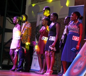 Proudly positive: blogger Jacquelyne Alesi with winners Sharifah Nalugo Kyomukama and Ronald Juan Kaganda