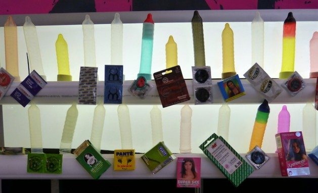 Condoms on display at the ICASA international AIDS conference. Credit: Mercedes Sayagues/IPS