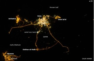 Qatar and Doha at night